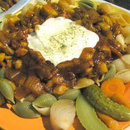 Těstoviny s kuřecím a omáčkou recept