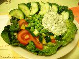 Zeleninový salát s bylinkovým dressingem recept
