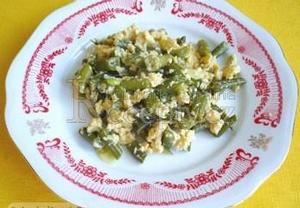 Zelené fazolky s vejci