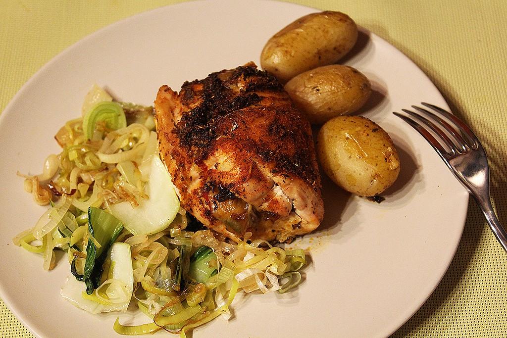 Plněná kuřecí prsa v pikantním koření recept