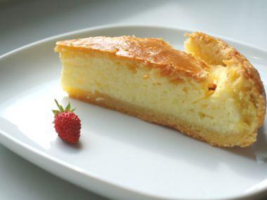 Recept Tvarohový koláč plněný jablkovým pudinkem