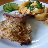 Vepřová kotleta se šlehačkou a brambory recept