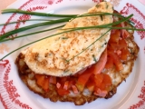 Květákové omelety s rajčaty recept