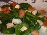 Salát z baby špenátu a tofu recept
