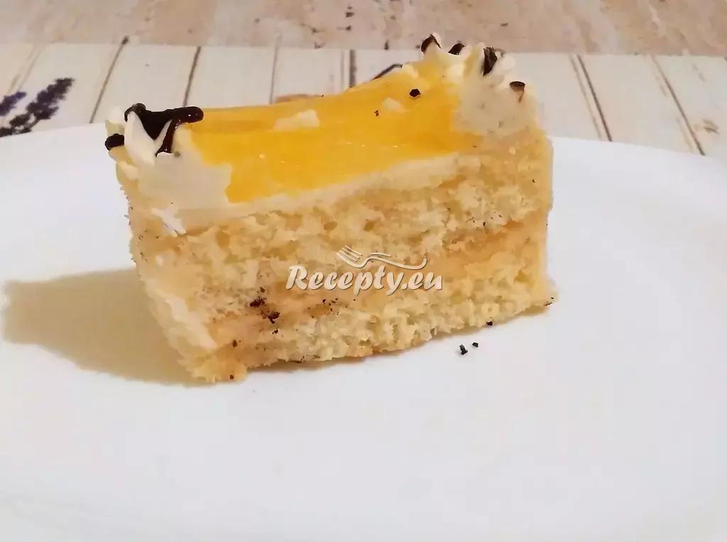 Smetanový dortík s ovocem recept  dezerty