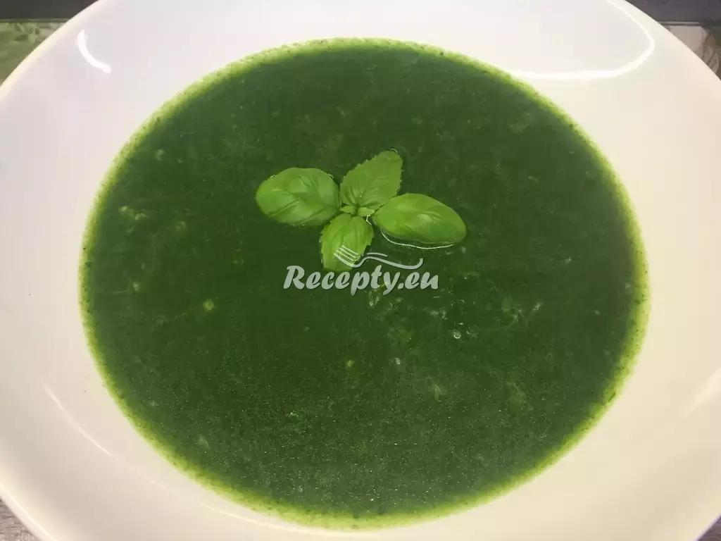 Jarní špenátová polévka s těstovinami recept  polévky
