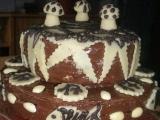 Černobílý dort recept
