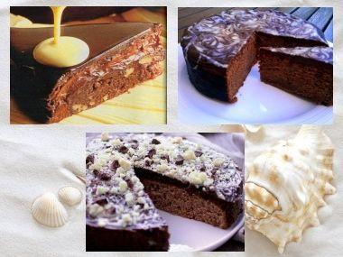 Křehký čokoládový dort s oříšky