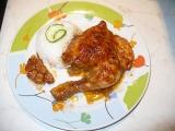 Marinované kuře s pečeným česnekem recept