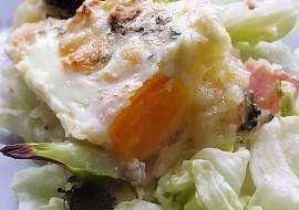 Zapečená bramborová kaše s vejcem a nivou recept