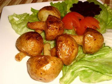 Bramborové houby pečené nebo smažené