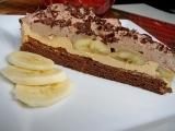 Čoko-karamelový řez s restovaným banánem recept