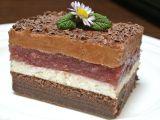 Višňovo  čokoládové řezy recept