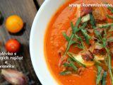Polévka z pečených rajčat a česneku recept