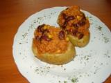 Pečené brambory plněné Chilli Con Carne recept