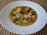 Zeleninová polévka se zasmaženými vejci recept