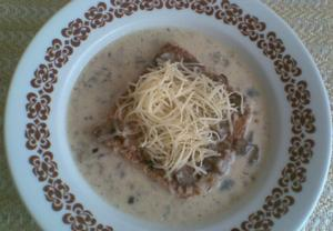 Houbová polévka  Kalábrijská