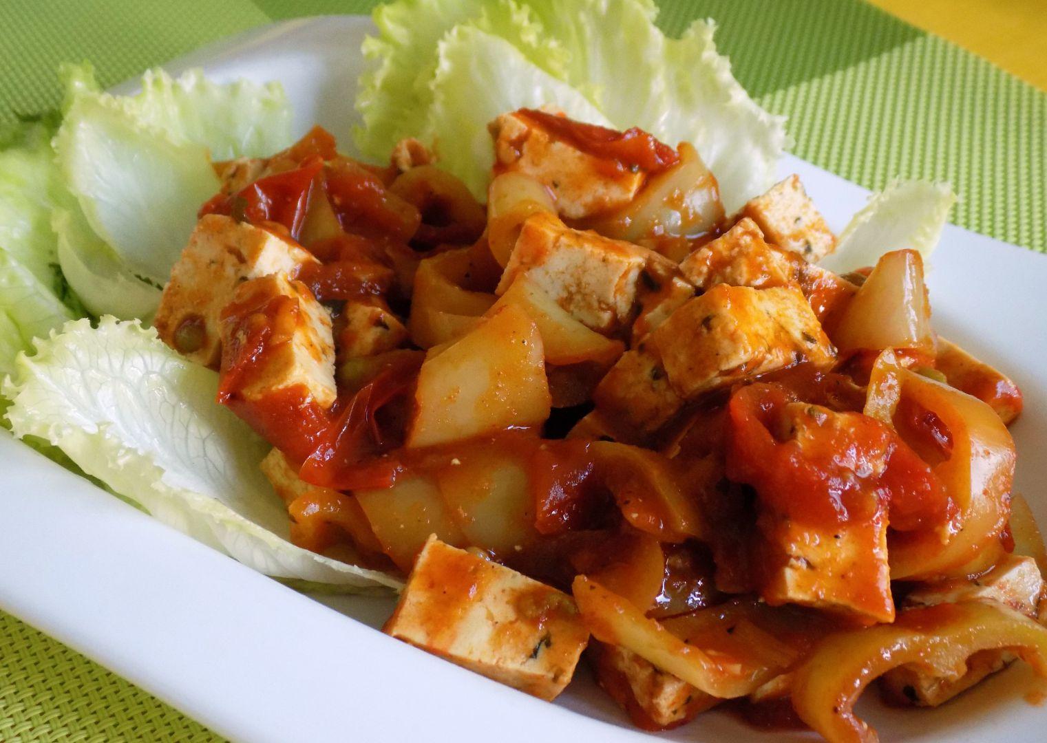 Tofu se zeleninou recept