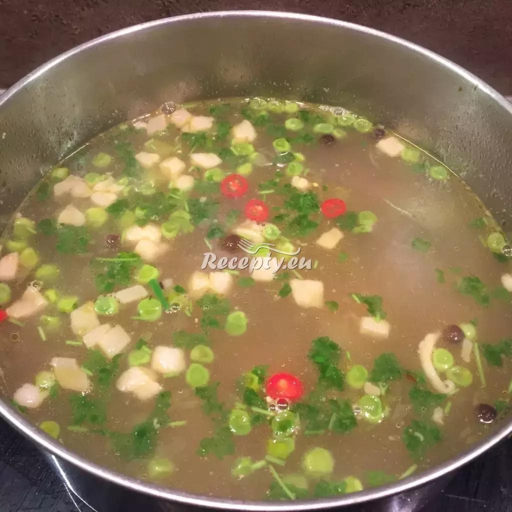 Kachní polévka se zeleninou recept  polévky