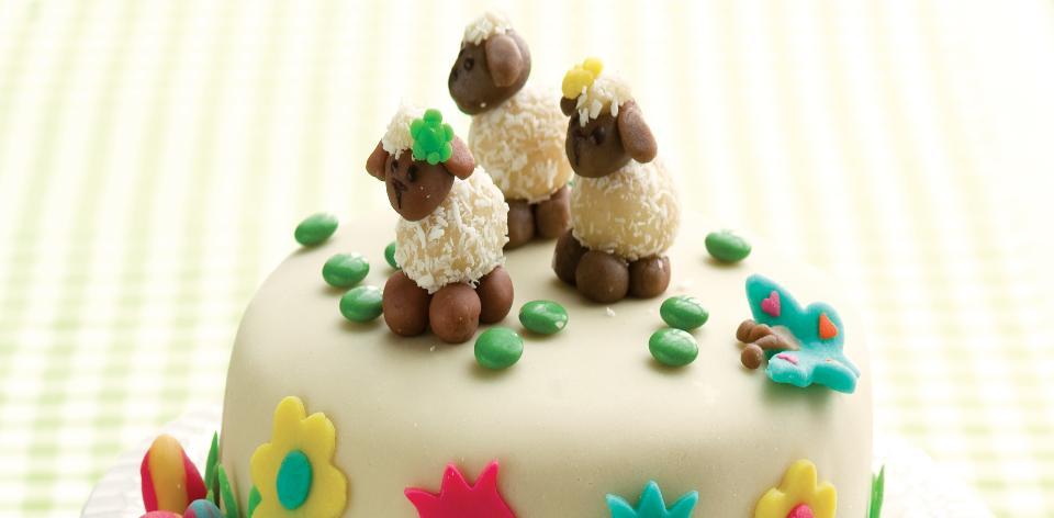 Jarní dort s ovečkami