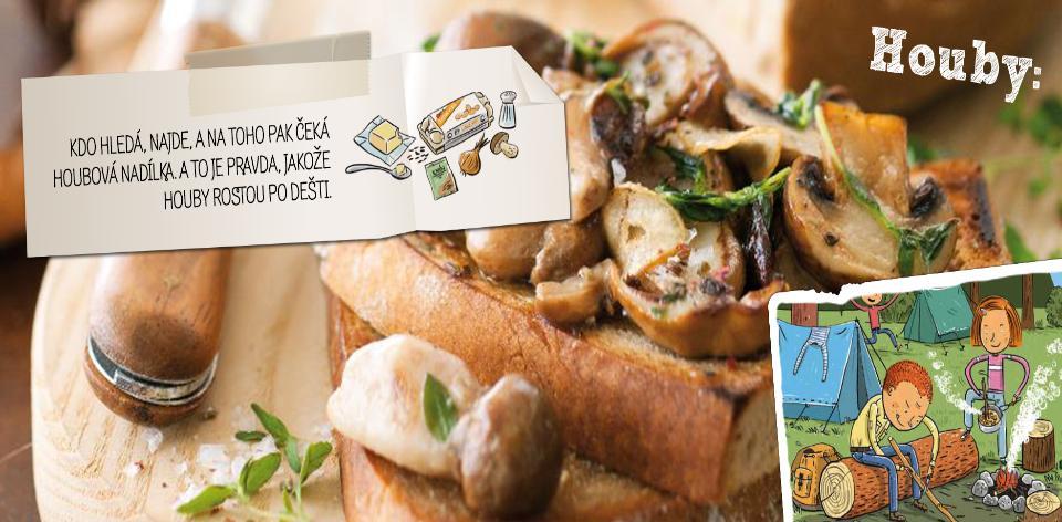 Houbařské chleby s česnekem