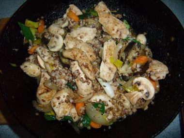 Kuře po sečuánsku s jasmínovou rýží