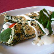 Špenátová omeleta s omáčkou recept