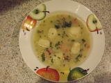 Květáková polévka s noky recept