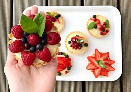 Tartaletky s pudinkovým krémem recept