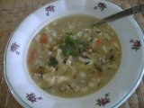 Kedlubnová polévka s brokolicí a květákem recept