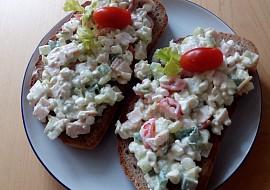 Pomazánka s cottage,šunkou a zeleninou recept