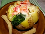 Brambory plněné zeleninou recept