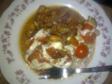 Kuřecí prsíčka s rajčaty a mozzarellou