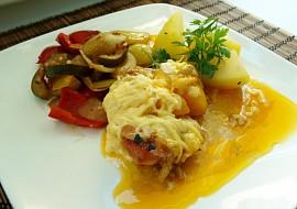Kuřecí s broskví a sýrem recept