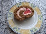 Kakaová jahodová roláda recept