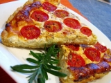 Slaný koláč s rajčaty recept