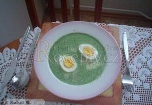 Špenátová polévka slavnostní