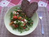 Dietní rucolový salát s mozzarellou recept