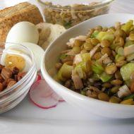 Pestrý čočkový salát se zálivkou recept
