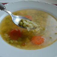Hrášková polévka s krupicovou zavářkou recept