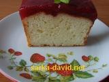 Jogurtový chlebíček s jahodovým želé recept