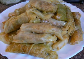 Mahshi cromb  plněné zelné listy směsí rýže (egyptský recept ...