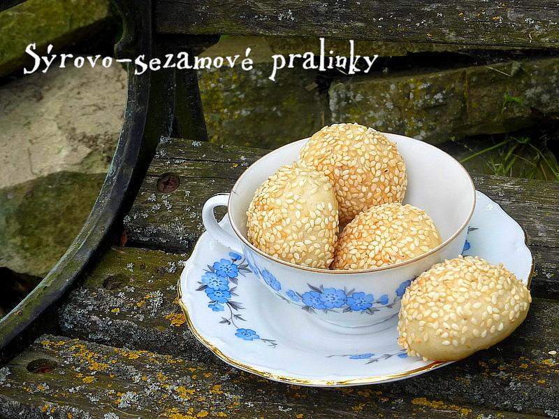 Sýrovo-sezamové pralinky recept