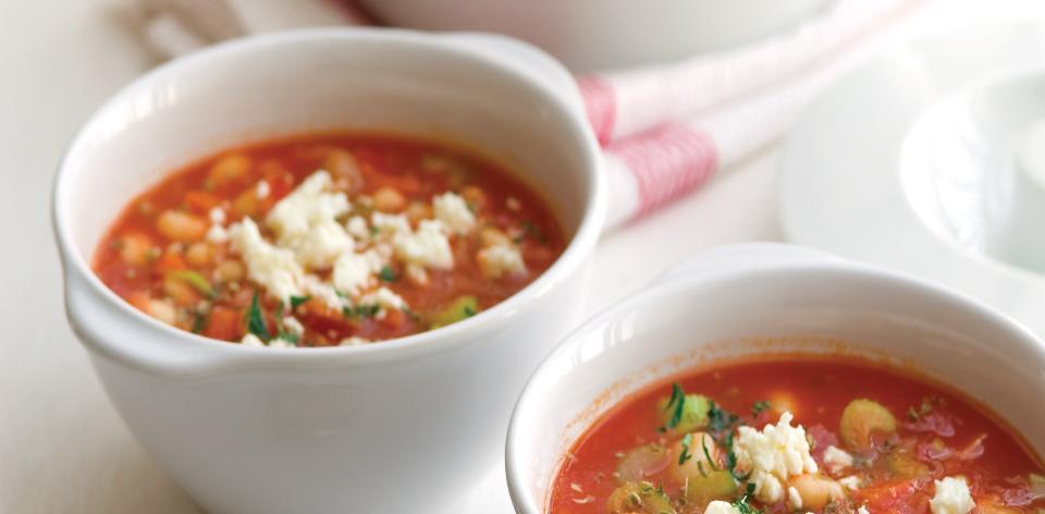 Barevná fazolová polévka