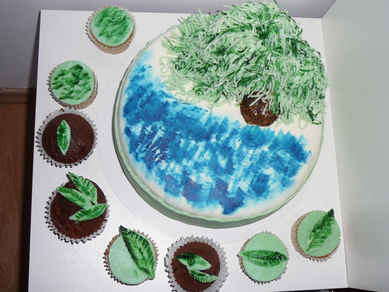 Dort s vrbou + cupcakes recept