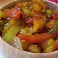 Teplá zelenina se salsou recept