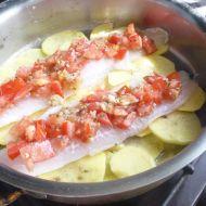 Ryba s rajčatovou čepičkou recept