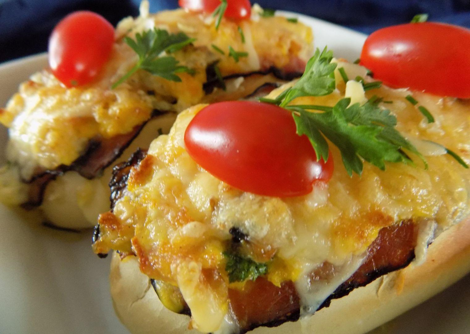 Zapečená bageta se žampionovými vejci, slaninou a sýrem recept ...