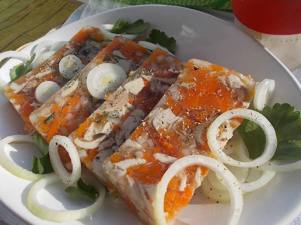 Libový aspik z kuřecího masa a zeleniny recept
