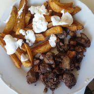 Kuřecí játra na cibuli a slanině recept